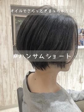 涼しげヘア×くびれハンサムショート