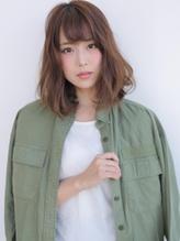 ☆スクエアシルエットで甘辛ロブ☆ バレッタ.49