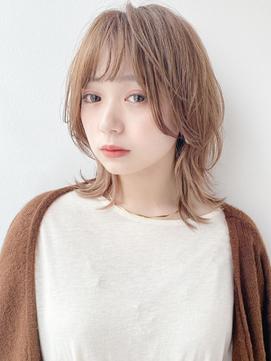【K-two Esola 池袋】ハイトーンカラー/シースルー前髪/カール