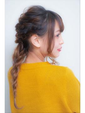 カジュアル編みおろしスタイル