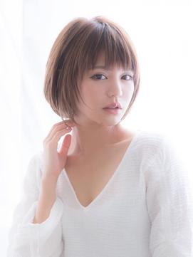 【aRietta/銀座】モーブカラーナチュラル可愛い大人ショートボブ