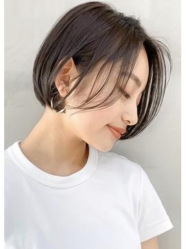 【mee.】ハセガワヒトシ 春 アッシュ グレージュ 丸みボブ☆