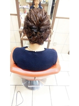 neolive cino   髪が短いボブの方も華やかヘアアレンジ☆.3