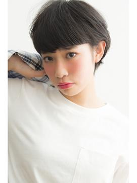 【keep hair design】重めバング×黒髪マッシュショート