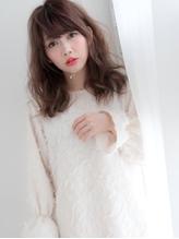 小顔バレイヤージュ☆ゆるふわフェアリーセミロング フェミニン.31