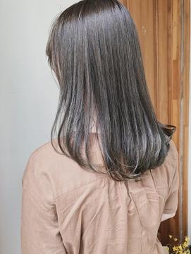 【peony】ブリーチなし透明感ミントグレージュ福岡/西新