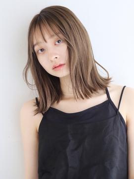 【ANDREY 宮村】外ハネロブシースルー前髪インナーカラー