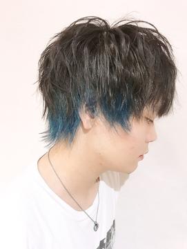 【Blue大黒☆】#メンズインナーカラー#ターゴイズブルー