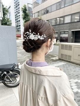 結婚式・2次会×ナチュラルシニヨンstyle