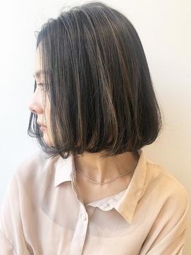 大人可愛い 前髪なしクールボブ 艶イルミナカラー/Salon菅野