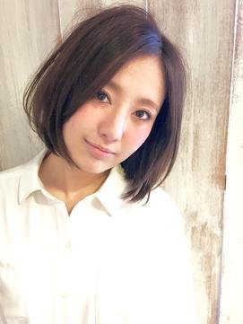 【AnFye.dueldo】モカベージュカラー × ワンレンボブ