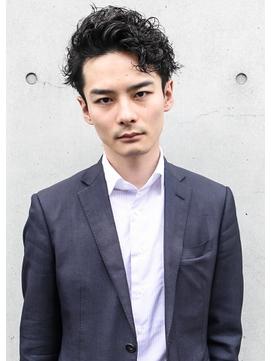 ★メンズヘア★ビジネスパーマアップバング★