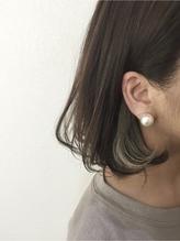 ワンカールボブ×ポイントインナーカラー 巻き髪.9