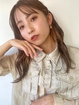 Emma ecole 耳かけインナーカラー 黒髪卒業 セミディ by.高橋