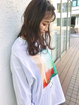 柔らかウエーブ×前髪アレンジ☆