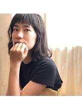 黒髪の方にもオススメ☆暗髪ラフウェーブ.53