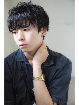 [Cafune/池袋]☆黒髪モード無造作ショート☆(池袋/メンズ)