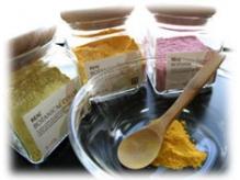 食品、植物を元に作られた和漢カラー。