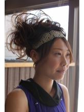 ボリュームスジMIX on カチューム (結婚式ヘアアレンジ) カチューム.48