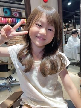 韓国風くびれヘア。キッズカット
