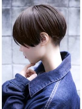 【+~ing】エッジショート刈り上げ女子ショート【小川晏奈】