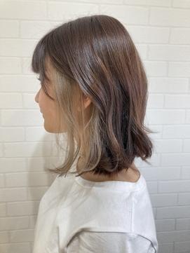【LIBRE恵比寿】韓国風くびれヘア×インナーカラー☆