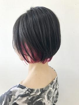 インナーカラー☆派手髪☆ピンクヘア☆ボブ☆鬼滅ヘア☆グレー☆