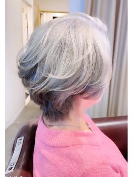 ホワイトベージュ・シルバーカラー・白髪染め・白髪ぼかし・神戸