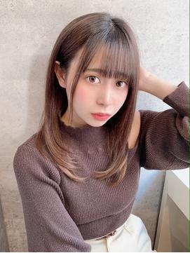 10代、20代◎小顔ローレイヤーシースルーアイドル前髪