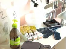 髪に優しいオーガニックの薬剤を使い、傷みを最小限に抑えます◎