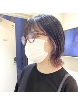 ショートウルフ×インナーカラー【salonwork】