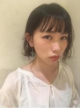 ぱっつんボブの暗髪抜け感スタイル☆.55