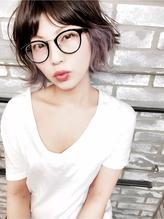 ボブ×インナーカラー×メガネ メガネ.16
