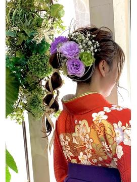 【コトノハ】かわいい着物ヘア 成人式 卒業式 振袖 袴ヘアー 2