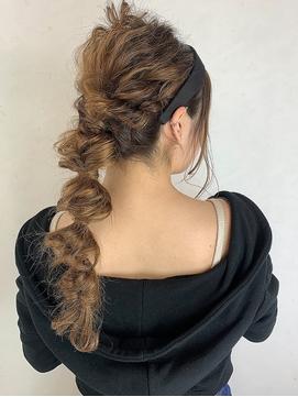 【Cecilhair大阪/京都/神戸】パーティー編み込みヘアセット