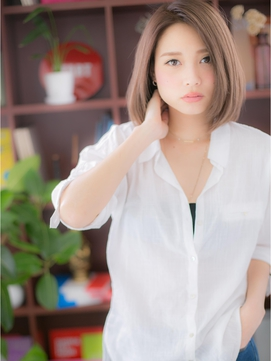 *+COVER HAIR+*…ノ―バングで色っぽさボブb