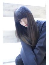ストレートヘア×暗髪ネイビーアッシュ 秋.12