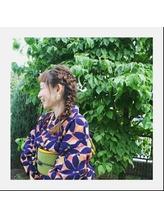浴衣◆編み下ろしヘアアレンジ2.23