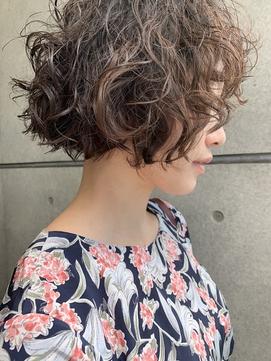 bibito ネオソバージュ 前髪切りっぱなしデジタルパーマボブ