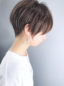 【morio池袋】20代30代40代 大人可愛い前髪とえりあしのショート