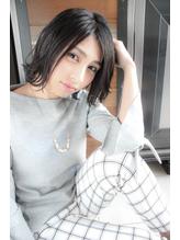 ☆透明感がある大人の黒髪外ハネボブ☆.38