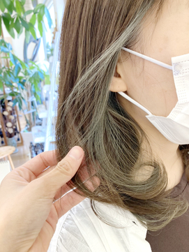 【AMAZING HAIR中沢店/鳥越】 イヤリングカラー|ブルーアッシュ