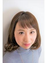 大人可愛いゆるふわショートバング.29
