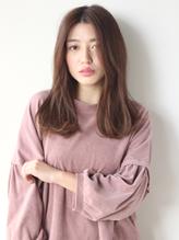 【K-two】ゆるカールがラフで可愛い☆センターパートセミディ センター分け.34