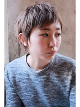 【+~ing】 ワイドバングの王道STYLE【畠山竜哉】 ベリーショート.25