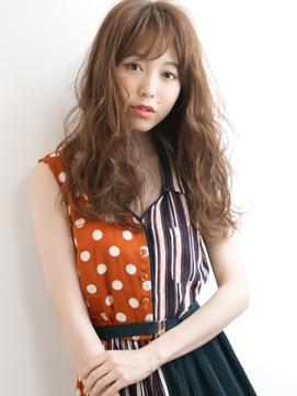 フェザーロング×ボルドー☆色香艶めく大人女子ロング