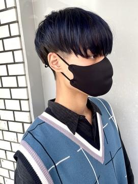 爽やかブルーブラックで韓国ニュアンスマッシュSHIGE