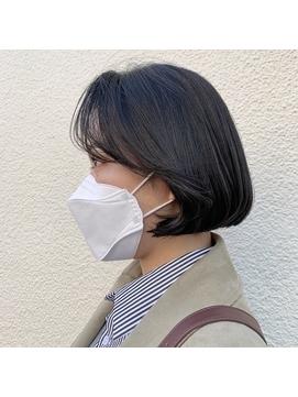 【Gigi長田】エアリーミディ 黒髪 ショートパーマ オフィス