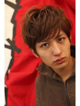 生田斗真風ショートでトップふんわりパーマ