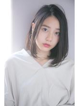 【GARDEN西川】黒髪前髪なしモードとろみワンカールパーマロブ うるツヤ.16